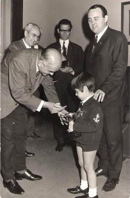 Lorenzo Ponce Sala con sus otros hijos en 1969