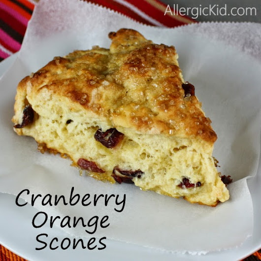 The Allergic Kid: Cranberry Orange Scones