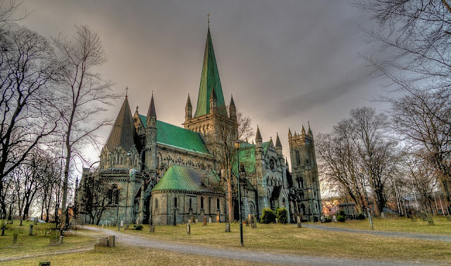 Catedral de Nidaros Trondheim, Noruega.