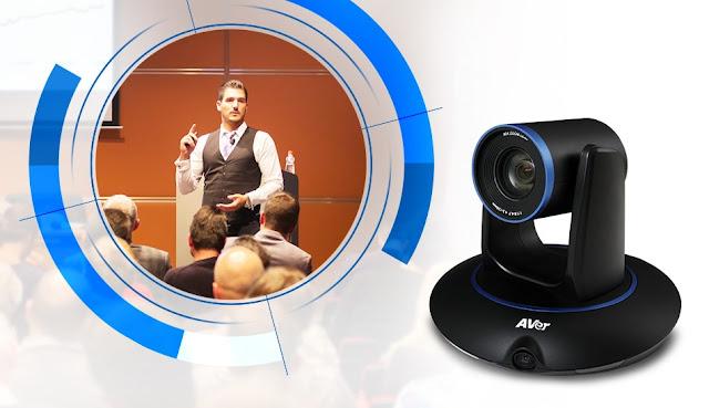 Camera hội nghị truyền hình AVer PTC500 cho khả năng xoay theo hướng người nói trong hội nghị truyền hình