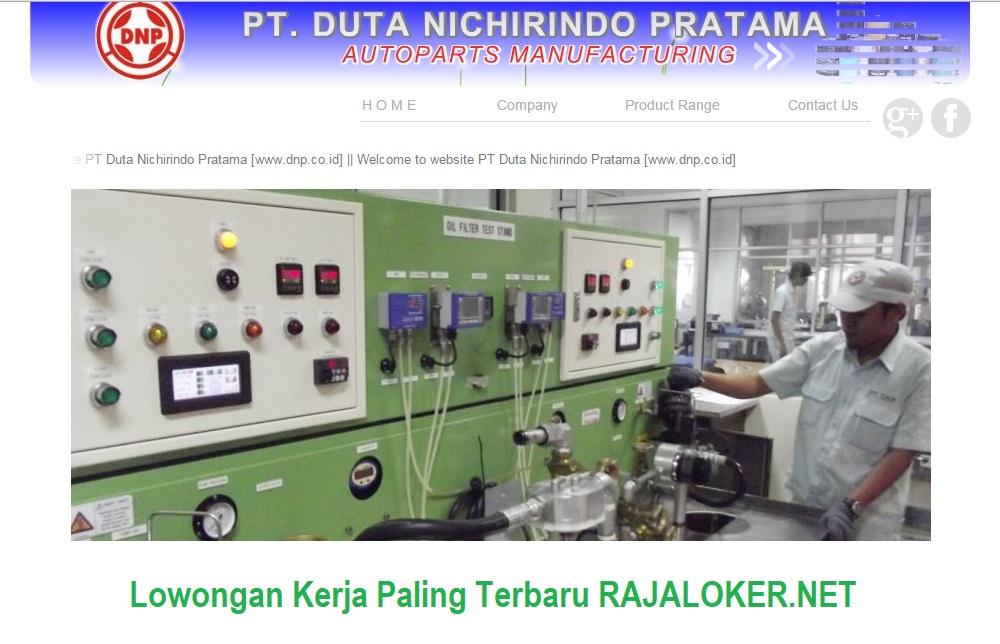 Lowongan PT. Duta Nichirindo Pratama (DNP) Terbaru 2017 - TAGERANG