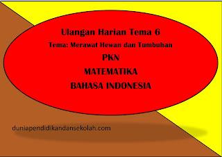 CONTOH SOAL ULANGAN HARIAN TEMA 6 KELAS 2 SD PKN, MATEMATIKA, BAHASA INDONESIA