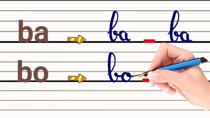 تعليم كتابة الحروف الفرنسية(ج2)،كتابة المقاطع اللفظية(Les syllabes)