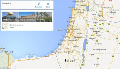 Google Hapus Palestina dari Google Map, Diganti Israel