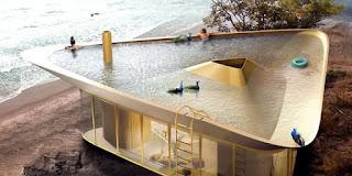 Αρχιτέκτονες έφεραν τα πάνω κάτω – Εφτιαξαν εξοχικό με πισίνα για στέγη [εικόνες]