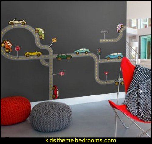 Roads Wall Sticker - Peel and Stick