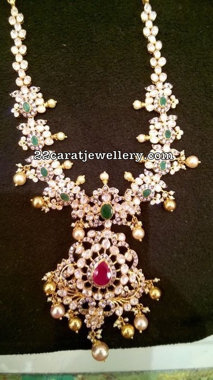 Pachi Floral Choker with Pearl Drops