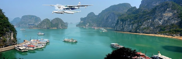 New seaplane flight explore Halong Bay 2