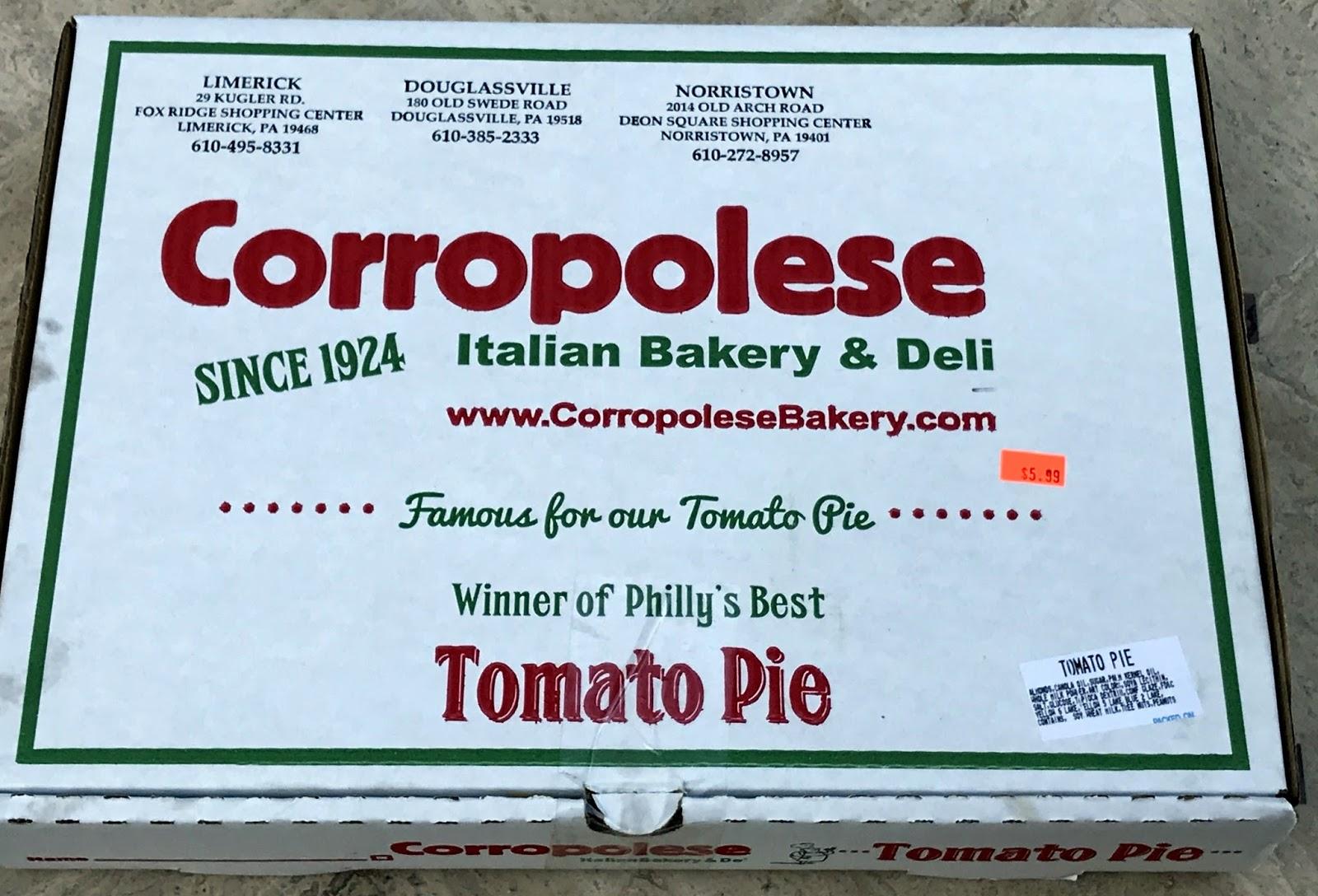 Pizza Quixote: Review: Corropolese Bakery - Tomato Pie