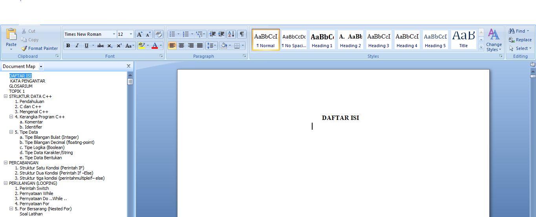 Cara Membuat Daftar Isi Otomatis Di Ms Word 2007 Lengkap Pediainfo Com