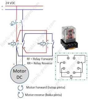 Diagram daya Forwrd-Reverse motor DC