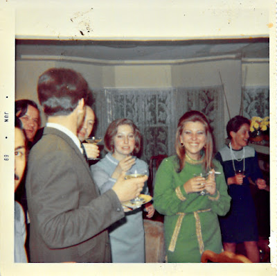 Vintage mystery photograph of a cocktail party in late 1960's San Francisco. Tanya Shchegolev.