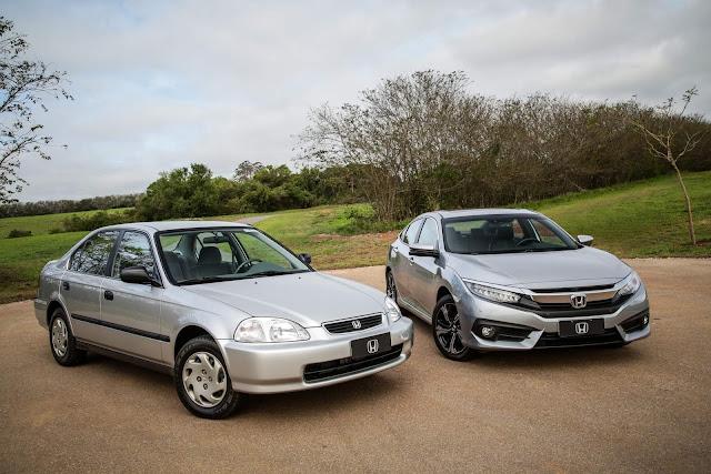 Honda Civic 1997 LX Automático x Honda Civic 2018
