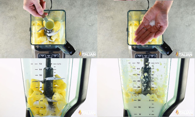 dole whip recipe step by step into blender and then blending