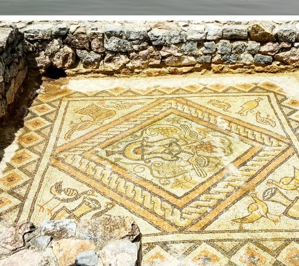 the mosaic of the Basilica of Lin