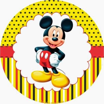 Kit para Fiestas de Mickey en Amarillo para Imprimir Gratis.