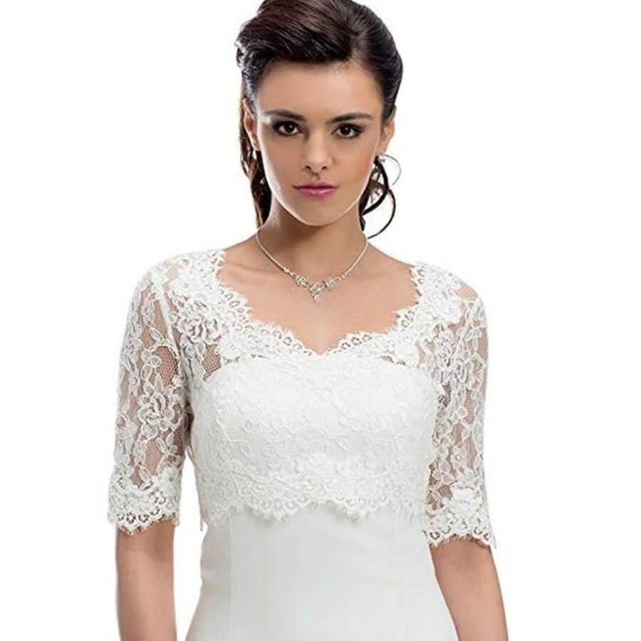 bolero para vestido de noiva