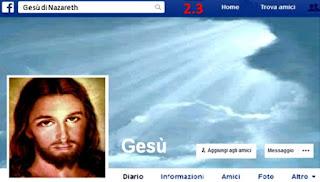 Ieri ho incontrato Gesù su Facebook