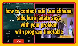 How to contact rabi Lamichhane , sida kura janata saga