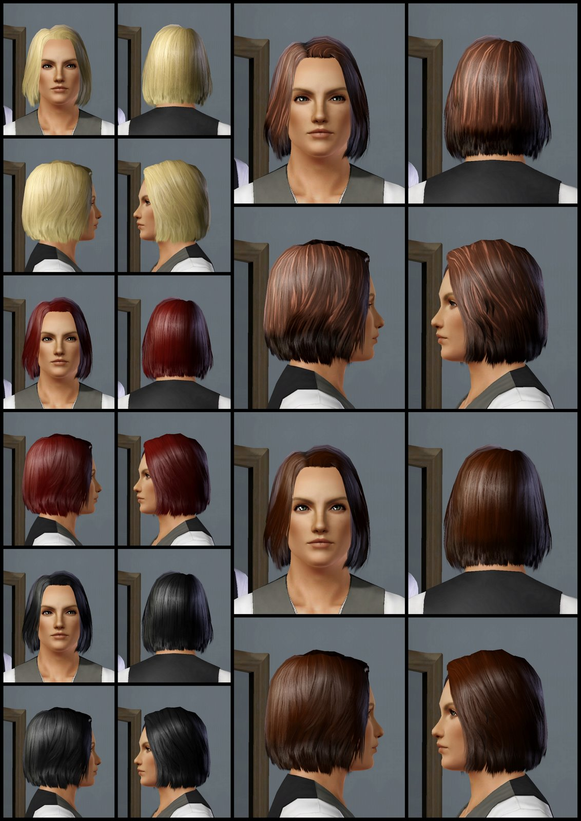 The Sims 3 Store: Hair Showroom: Fins out