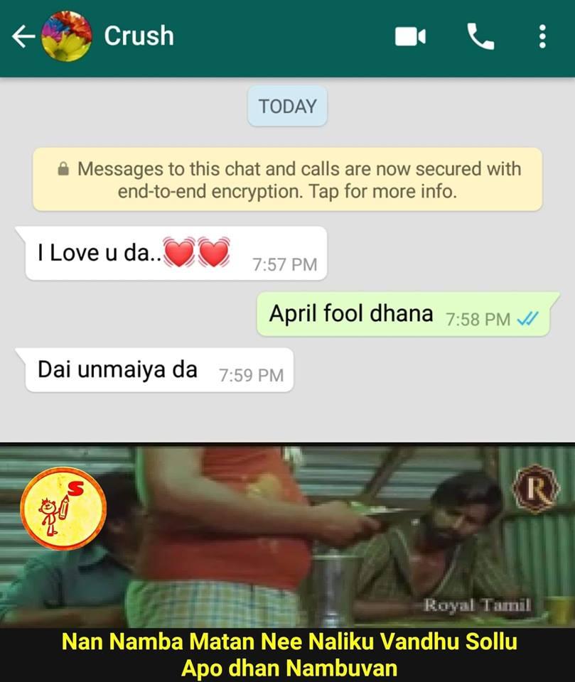 Best Comedy Memes: April fool memes tamil