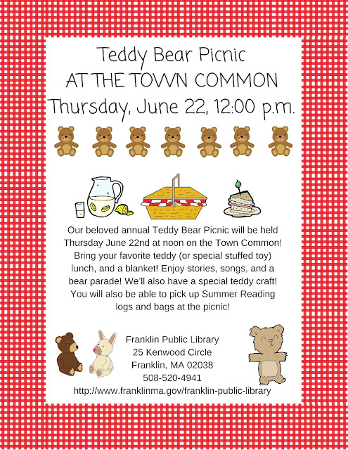 Franklin Library: Teddy Bear Picnic - June 22
