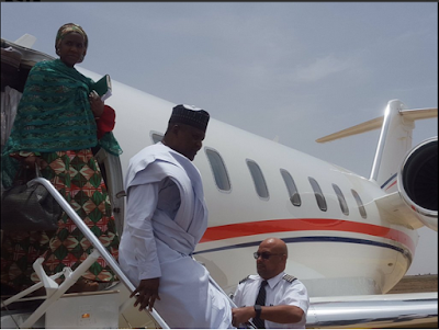 Aliko Dangote And His Daughter Arrive Maiduguri, Welcomed By Govt Officials (Photos)