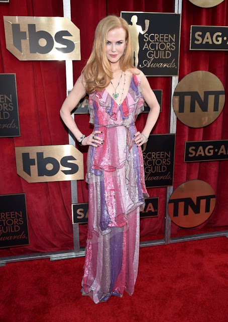 WHO WORE WHAT?.....2016 SAG Awards Red Carpet: Nicole Kidman in Gucci
