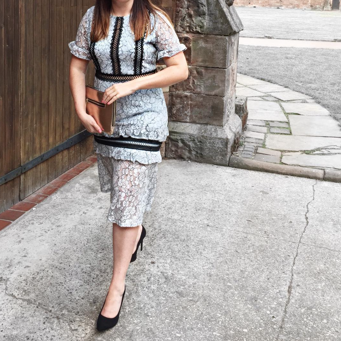 what sarcasm and style wore to a wedding with pretty little thing