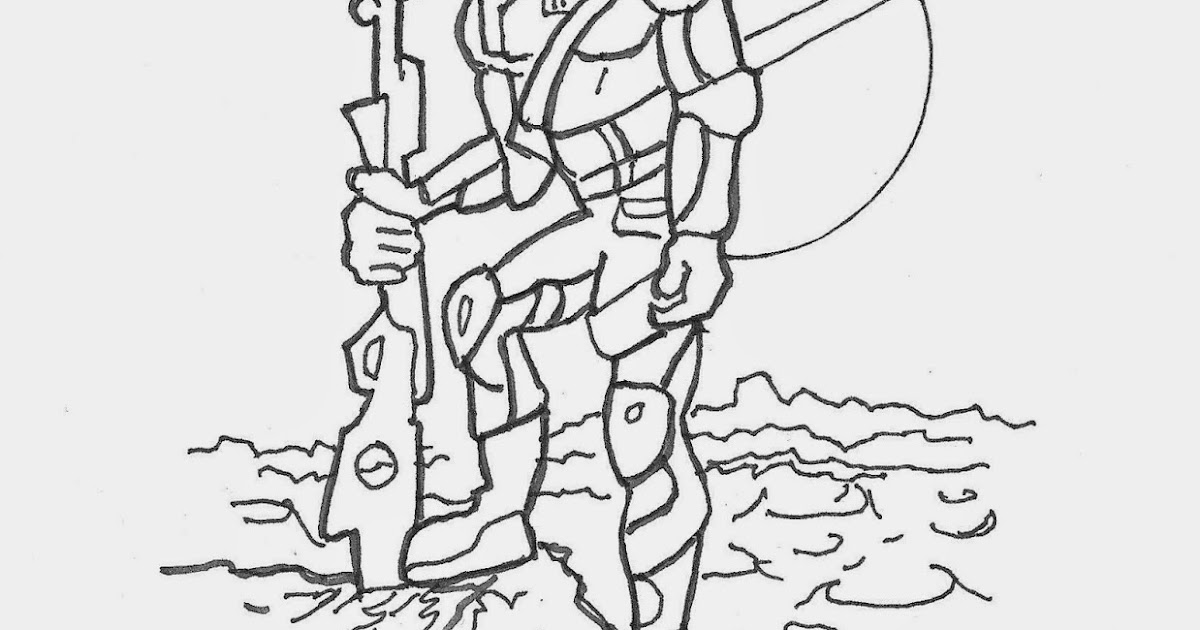 Coloring Pages for Kids by Mr. Adron: Space Soldier, Free
