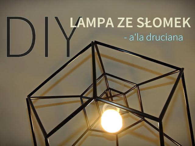 lampa ze słomek DIY
