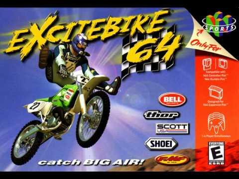 Excitebike 64, top game 64! melhor jogo de corrida moto no n64