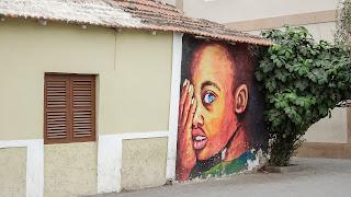 Praia has many graffity