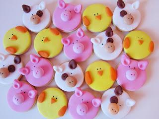 Galletas decoradas animales granja