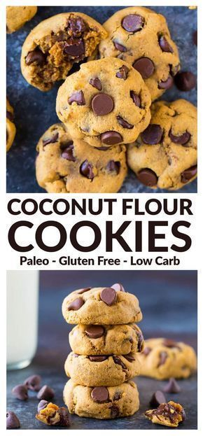 Coconut Flour Cookies with Peanut Butter and Chocolate