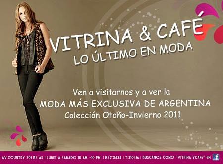 Vitrina & Café – Lo último en Moda