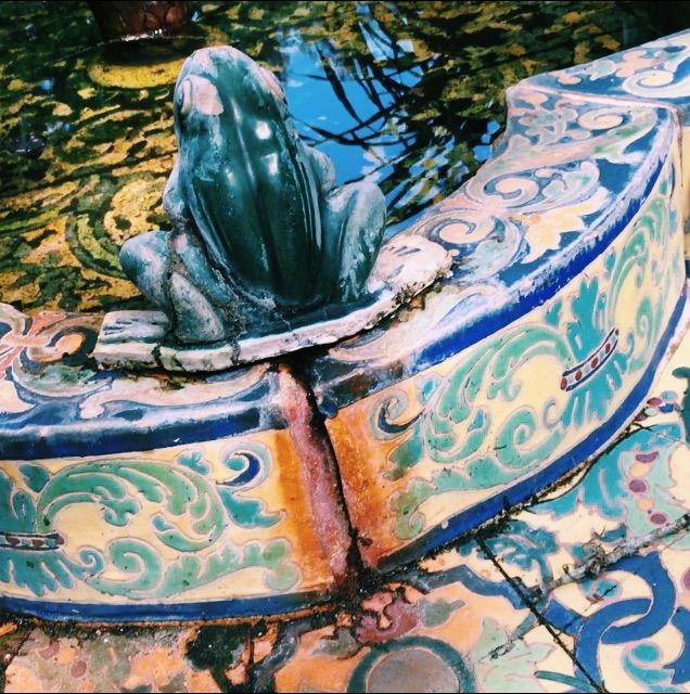 bok tower gardens, Lauren Banawa, lake wales, frog fountain, mosaic fountain