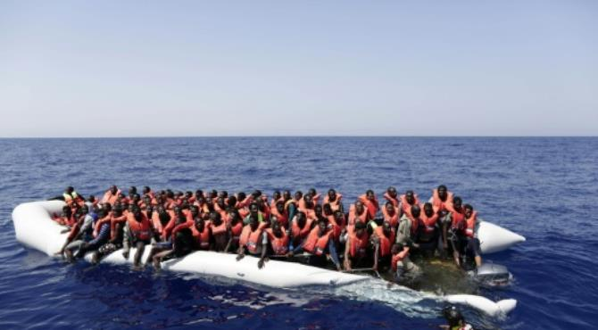 Most migrants heading to Italy originate from West Africa and the Horn of Africa, often departing from Libya en masse when the sea is calm and a southern wind can push boats up into international waters. By Yaraq Nardi (Italian Red Cross/AFP/File). Rome (AFP) - Around 6,500 migrants were rescued off the coast of Libya, the Italian coastguard said, in one of its busiest days of life-saving in recent years.