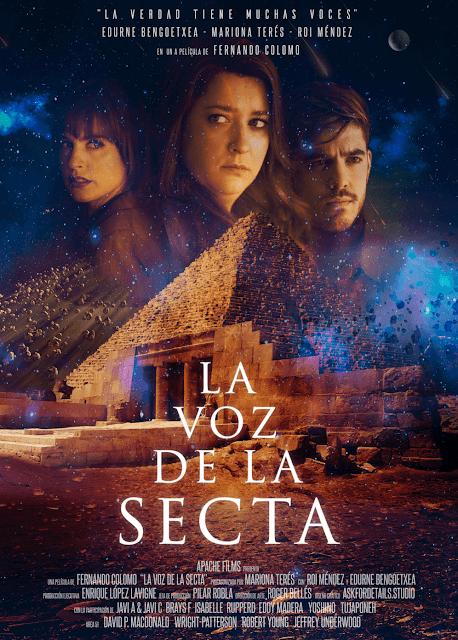 Póster de 'La Voz de la Secta' protagonizada por Mariona Terés, Edurne Bengoetxea y Roi Méndez