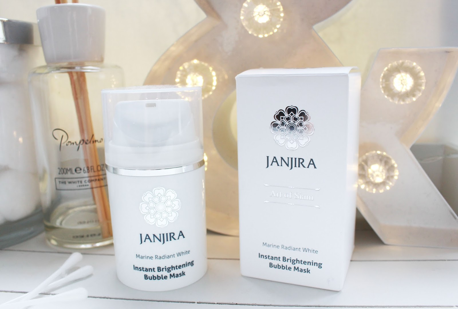 Janjira Instant Brightening Bubble Mask, Face mask review, janjira beauty review,