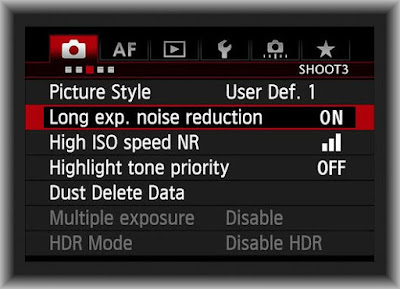 Canon EOS 5D Mark IV Setting Noise Reduction