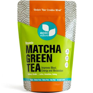 Epic Matcha Green Tea Powder - USDA Organic - Culinary Grade - Free 37+ Lattes, Smoothies, Dessert Recipes