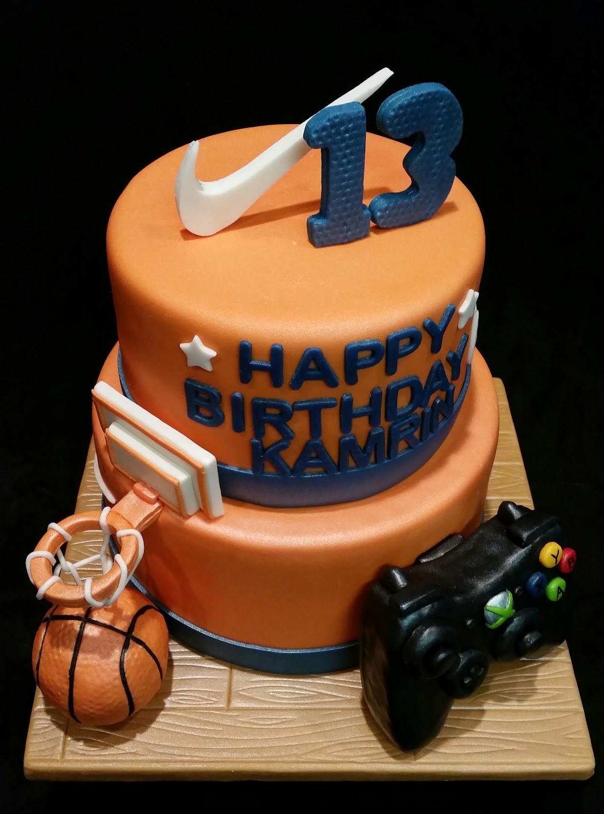 Mymonicakes Basketball Xbox And Nike Cake