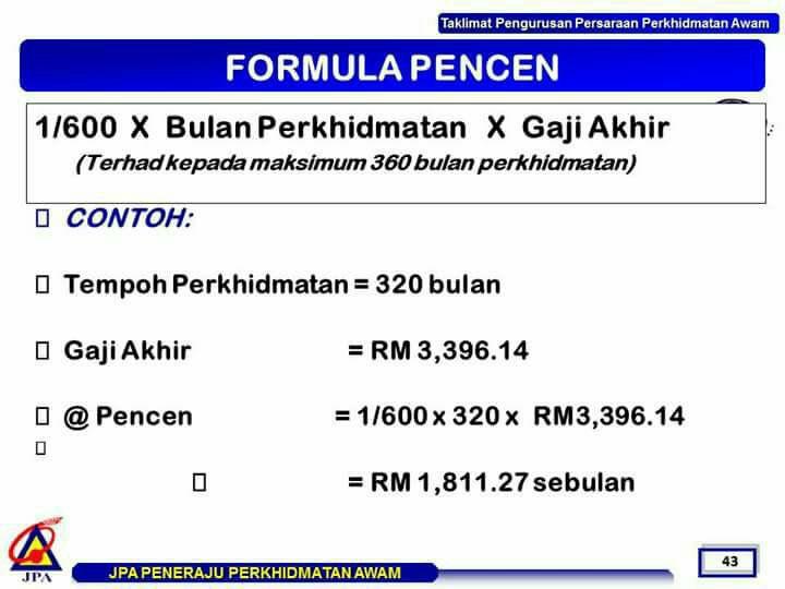 formula pencen