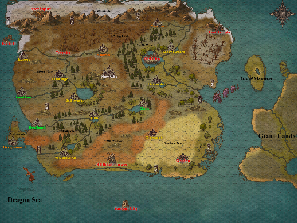 The gms table june 2017 what is also finished is the games over world map color coded and filled with towns ruins islands and ancient dungeons check it out below gumiabroncs Image collections