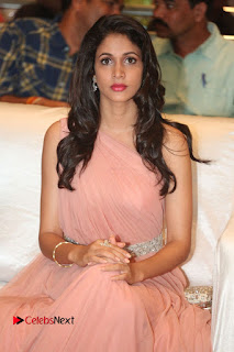 Actress Lavanya Tripathi Pictures in Long Dress at Srirastu Subhamastu Pre release Function  0102.JPG