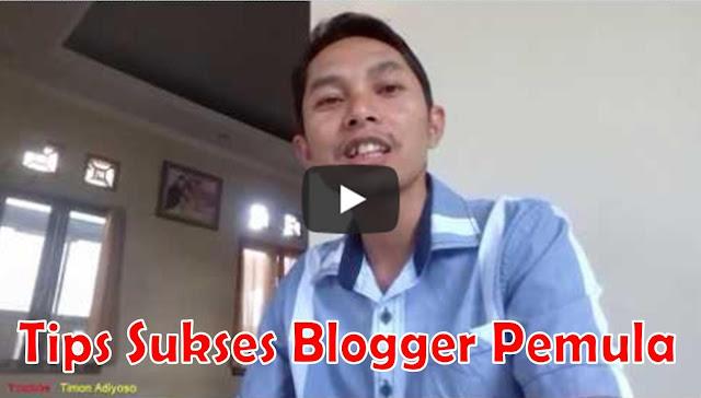 Rahasia Sukses Blogger Pemula