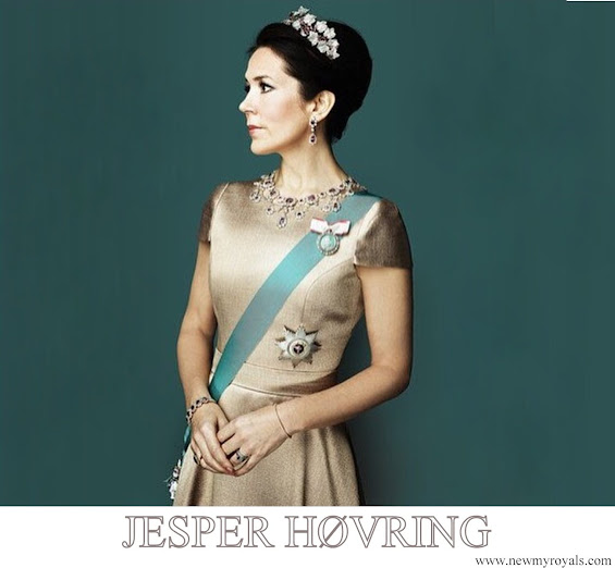 Crown Princess Mary wore Bespoke Jesper Høvring Couture