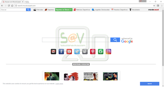 Search.moviecarpet.com (Hijacker)