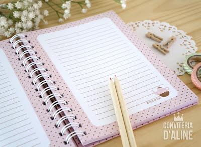caderno personalizado receitas noiva
